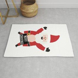 Merry Christmas Drunk Naughty Santa Claus Funny Rug