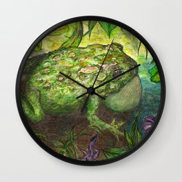 Rain Forest Toad Wall Clock