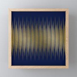 Linear Blue & Gold Framed Mini Art Print
