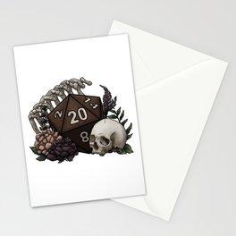 Skeleton D20 Tabletop RPG Gaming Dice Stationery Cards