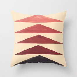 Brown Geometric Triangle Pattern With Black Accent Throw Pillow