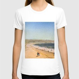 Easton's Beach, Newport, Rhode Island by Charles De Wolf Brownell T-shirt