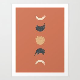 Cat Landscape 61: Meow Phases 2 Art Print