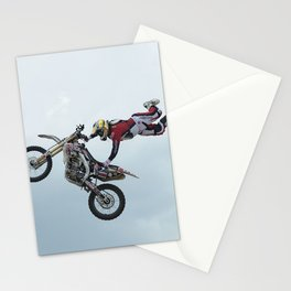 Motocross Stunt Super Grab Stationery Cards