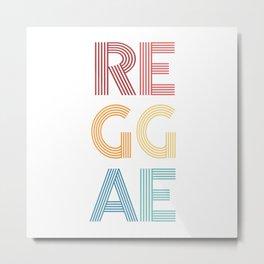 Reggae  TShirt Music Shirt Instrument Gift Idea Metal Print