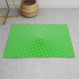 d20 Acid Green Critical Hit Pattern Rug