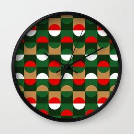 Christmas Geo // small print Wall Clock