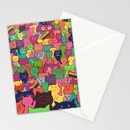Gay Cat Parade Stationery Cards