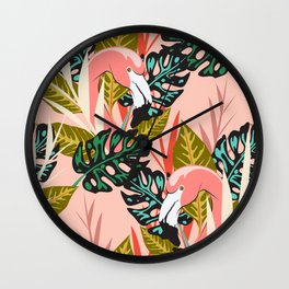 Flamingo - Pink Wall Clock