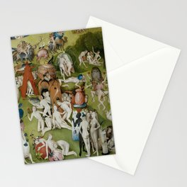Hieronymus Bosch - The Garden of Earthly Delights - Medieval Oil Painting Stationery Cards