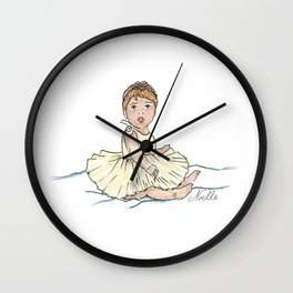 Baby Ballerina Wall Clock