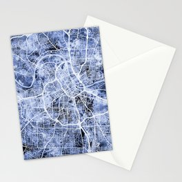Nashville Tennessee City Map Stationery Cards