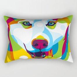 Siberian Husky Dog Rectangular Pillow