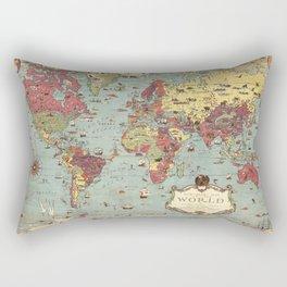 1931 Vintage Map of the World Rectangular Pillow