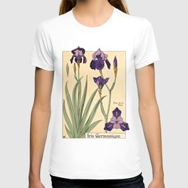 Maurice Verneuil - Iris germanique - botanical poster T-shirt