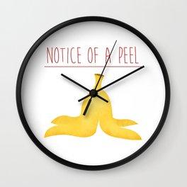 Notice Of A Peel Wall Clock