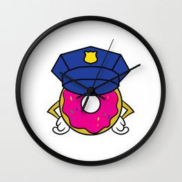 """""""Donut Cops"""" tee design. Perfect for sweets and donut lovers out there! Makes an adorable gift too!  Wall Clock"""