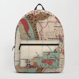 Vintage Geological Map of Madagascar (1922) Backpack