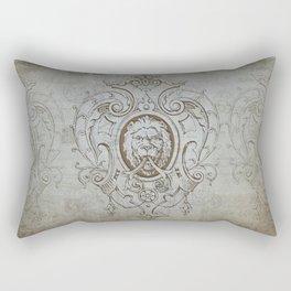 Heraldic Lion vintage retro art Rectangular Pillow