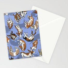 Raining Basset Hounds Stationery Cards