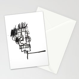 70s pop art notebook sketch vectorized and reworked Stationery Cards
