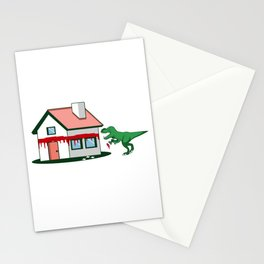 T Rex Painting House Painter And Artist Gift Stationery Cards