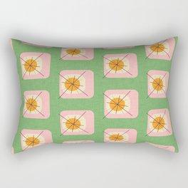 Flower Eggs Green-Pink Rectangular Pillow