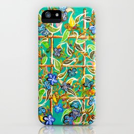 """Bamboo Blues"" by ICA PAVON iPhone Case"