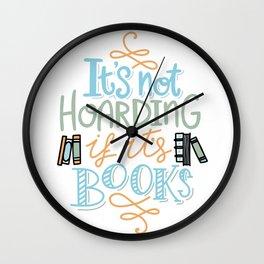 Hoarding Books Summer Colors Wall Clock