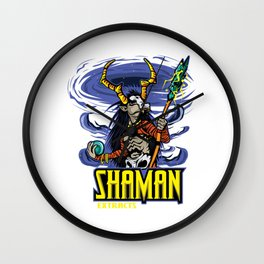 Shaman Extracts T-shirt Design Black Magic Rituals Powerful Sorcerer Black Energy Witch Doctor Wall Clock