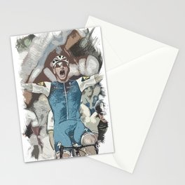 Peloton Pro Cyclist World Tour Rider Stationery Cards