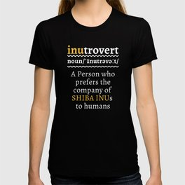 Inutrovert Funny Shiba Inu Mom Dad Gift T-shirt