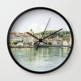 Luzern City and Lake View - Switzerland Wall Clock