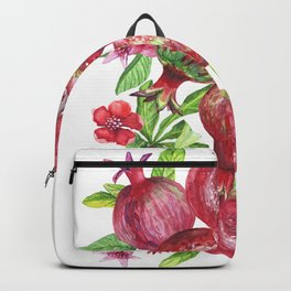 Pomegranate fruit texture. Backpack