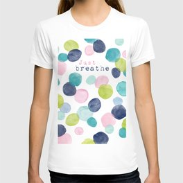 Just Breathe Watercolor T-shirt