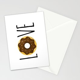 I Love Donuts Stationery Cards