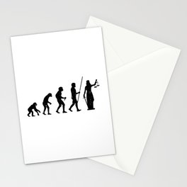 Lady Justice Evolution Lawyer Judge Law Stationery Cards