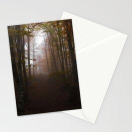 Foggy autumn Stationery Cards
