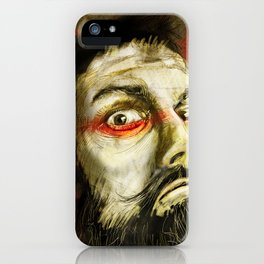 Beard over red iPhone Case