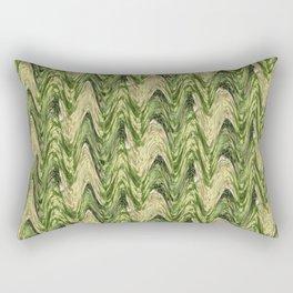 Zigzag Green Rectangular Pillow