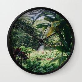 Tropical Paradise - Kauai Hawaii Wall Clock