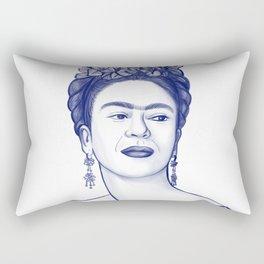 Frida Azul Rectangular Pillow