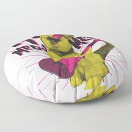 Miau Miau Miau - rock cat Floor Pillow
