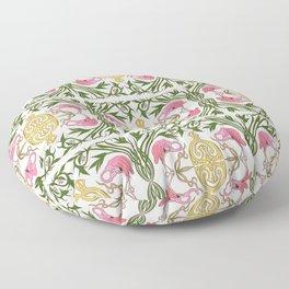 Flamingo Nouveau Floor Pillow