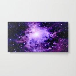 Orion nebUla. : Purple Galaxy Metal Print