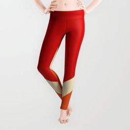 Summer Sun Retro Style Stripes Amaterasu Leggings