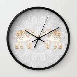 ALHAMBRA ELEPHANT GREY by Monika Strigel Wall Clock