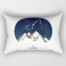 Astrology Scorpio Zodiac Horoscope Constellation Star Sign Watercolor Poster Wall Art Rectangular Pillow