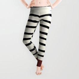 Dark Ruby & Stripes Leggings
