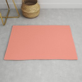 Now PEACH PINK pastel solid color  Rug